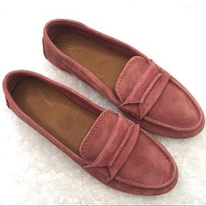 """Frye """"Sedona"""" Top Seam Suede Moccasin Loafer NWOB"""